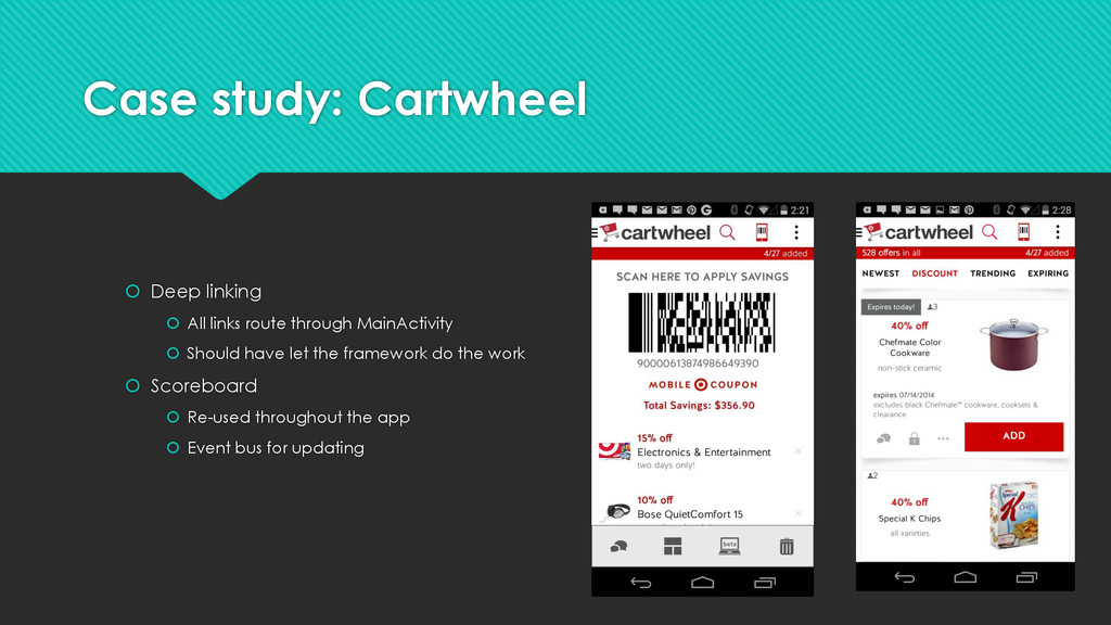Case study: Cartwheel  Deep linking  All link...