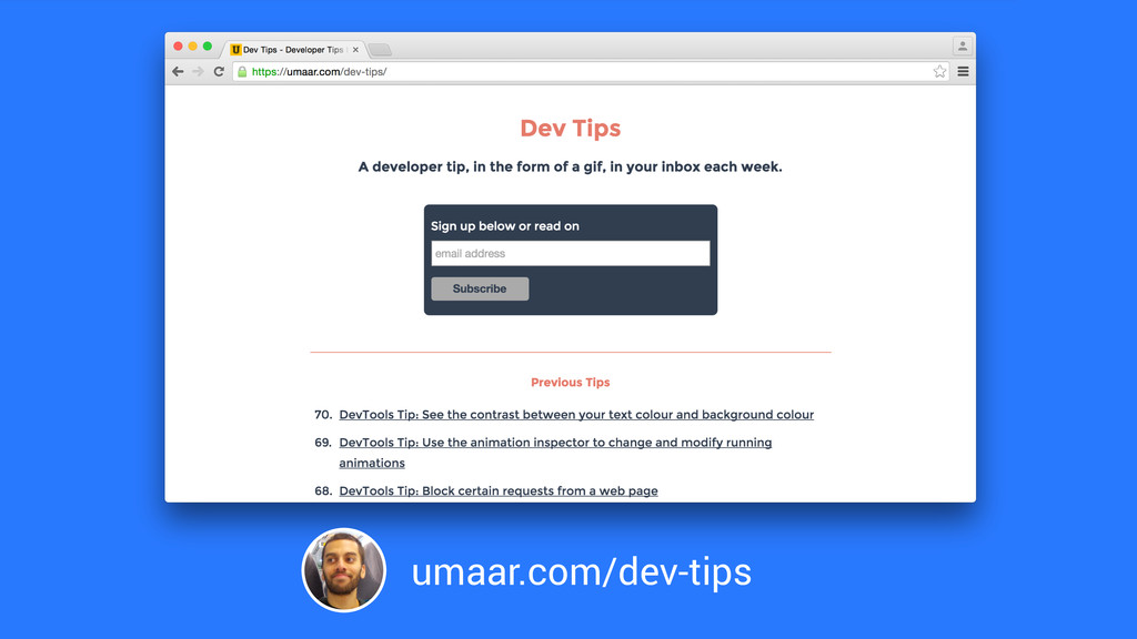 umaar.com/dev-tips
