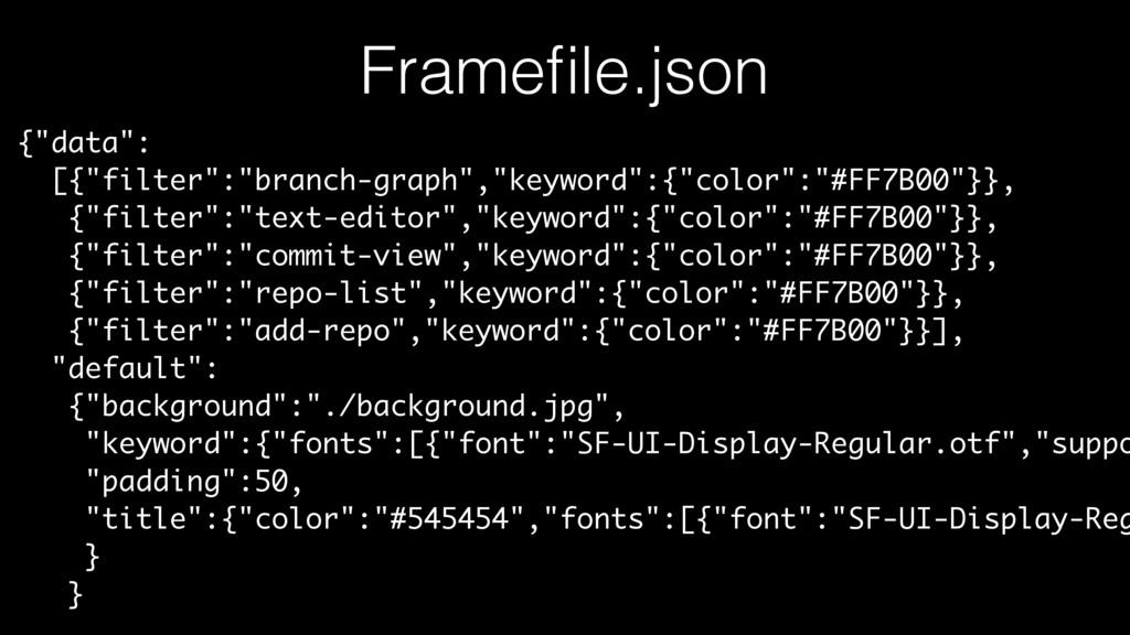 "Framefile.json {""data"": [{""filter"":""branch-graph..."