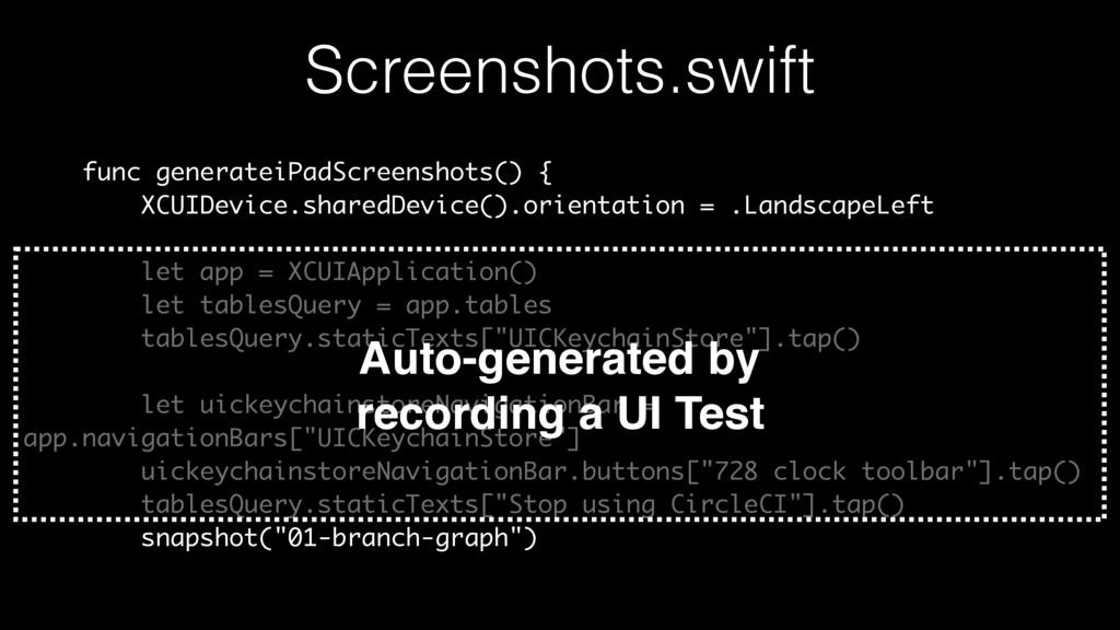Screenshots.swift func generateiPadScreenshots(...