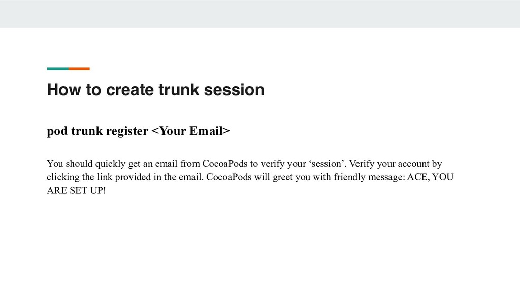 How to create trunk session pod trunk register ...