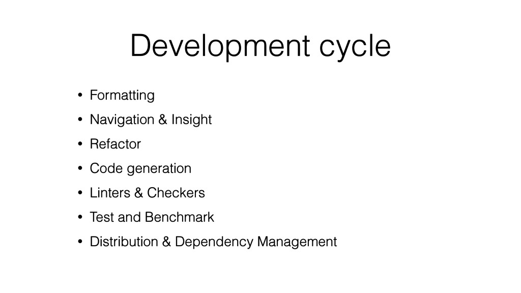 Development cycle • Formatting • Navigation & I...