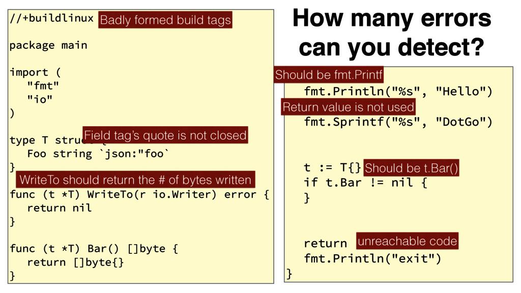 "func main() { fmt.Println(""%s"", ""Hello"") fmt.Sp..."