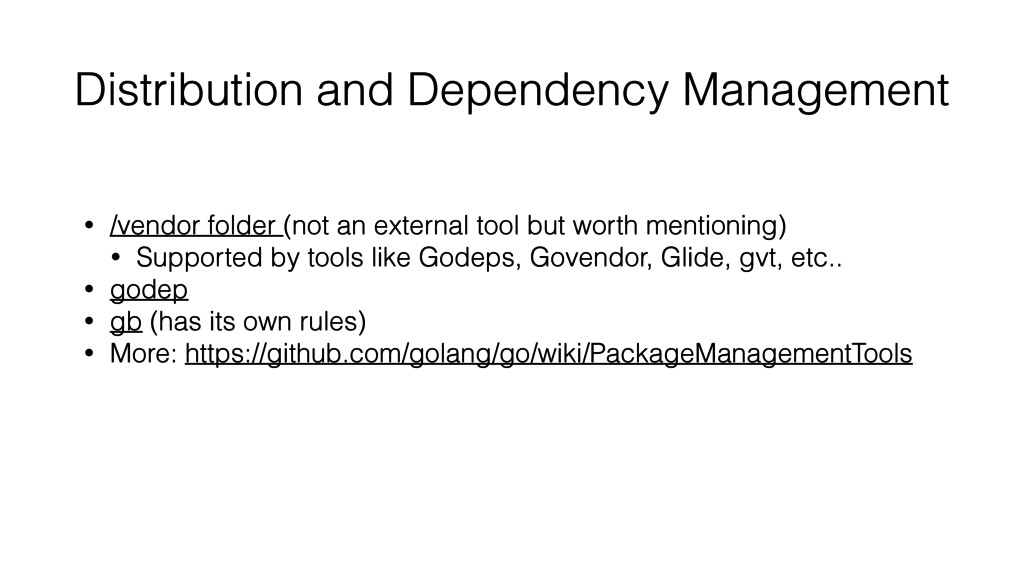 Distribution and Dependency Management • /vendo...