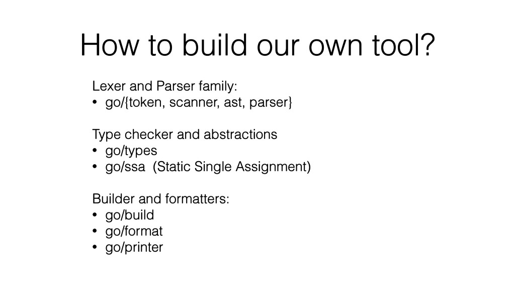 How to build our own tool? Lexer and Parser fam...