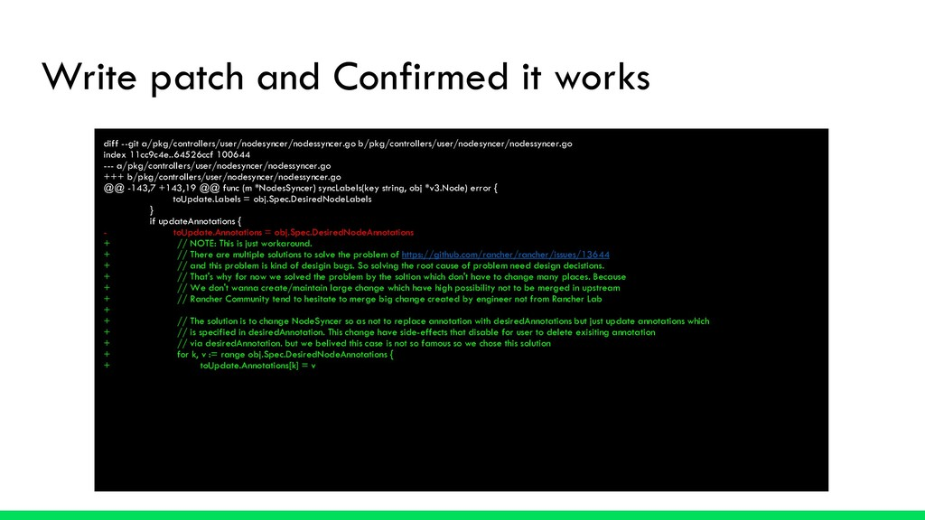 Write patch and Confirmed it works diff --git a...