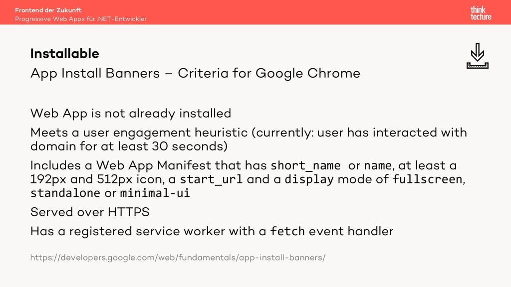 App Install Banners – Criteria for Google Chrom...
