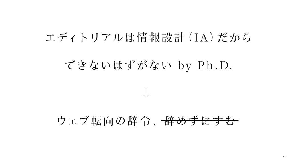 エディトリアルは情 報 設 計 (I A ) だから できないはずがない by P h .D....