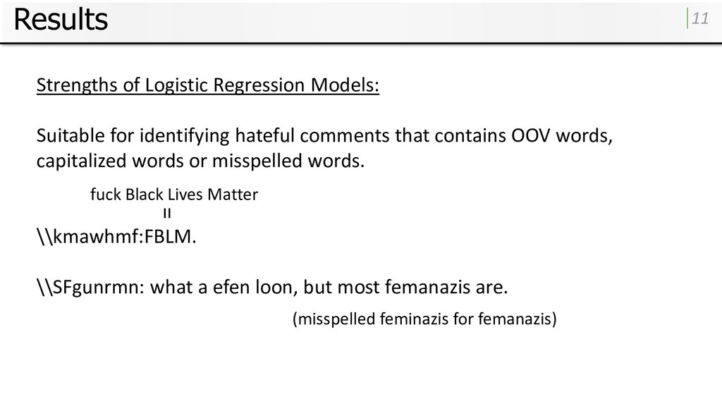Results 11 Strengths of Logistic Regression Mod...