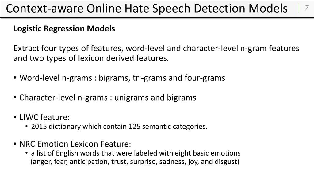 Context-aware Online Hate Speech Detection Mode...