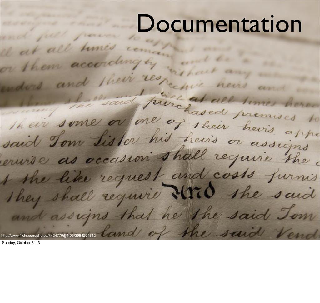 Documentation http://www.flickr.com/photos/7424...