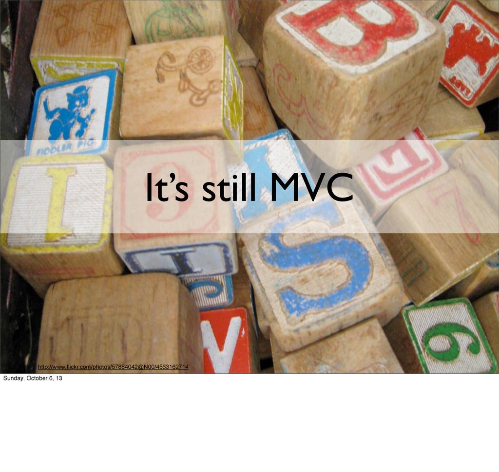 It's still MVC http://www.flickr.com/photos/578...