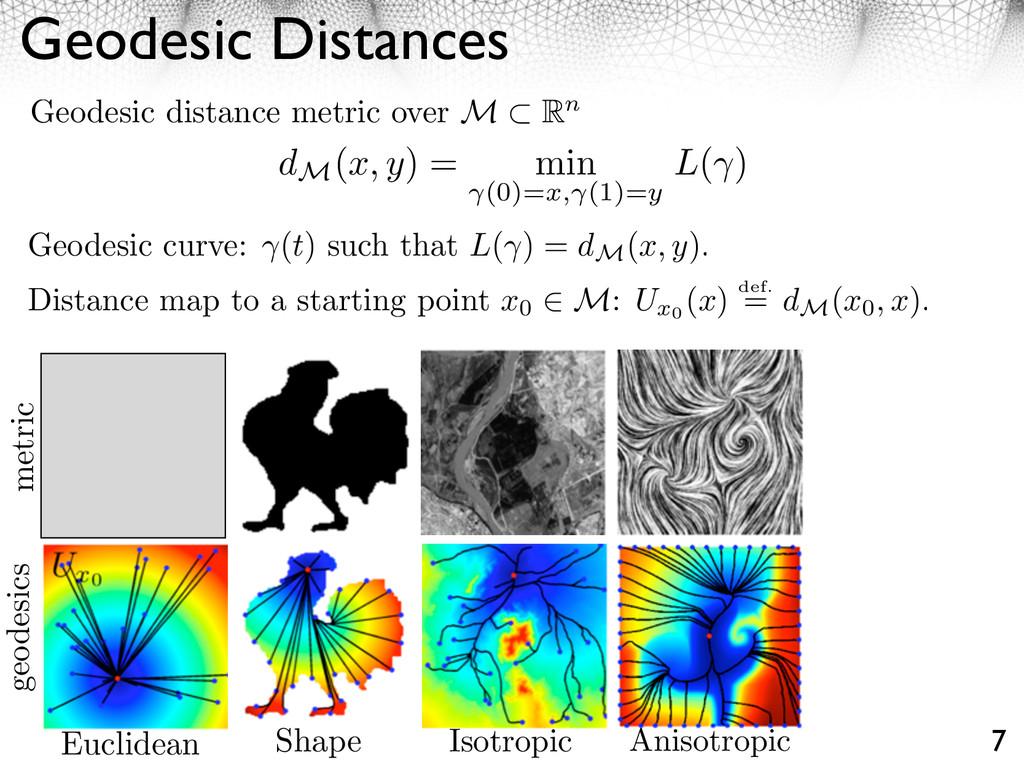 Geodesic Distances 7 Geodesic distance metric o...