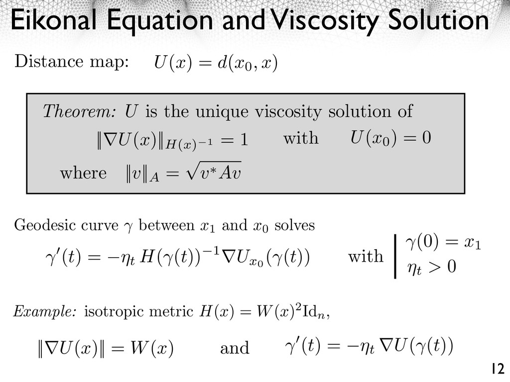 Eikonal Equation and Viscosity Solution 12 Geod...