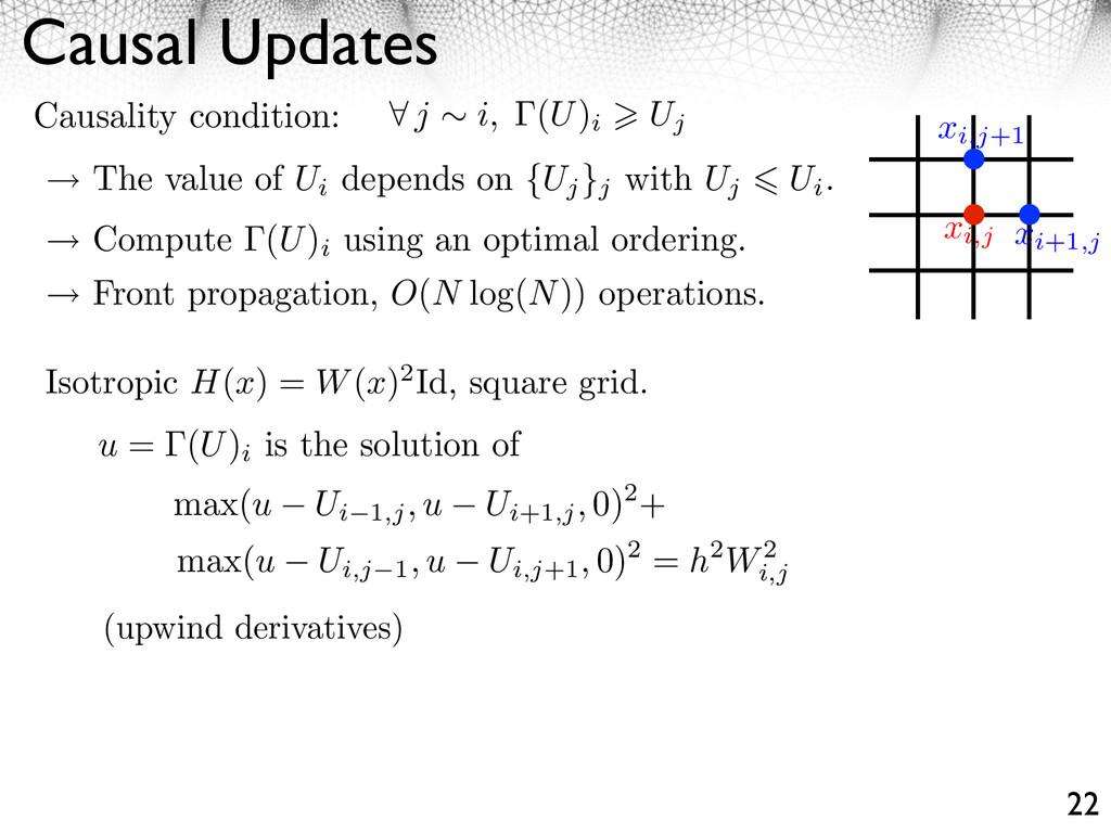 Causal Updates 22 j i, (U) i Uj Causality condi...
