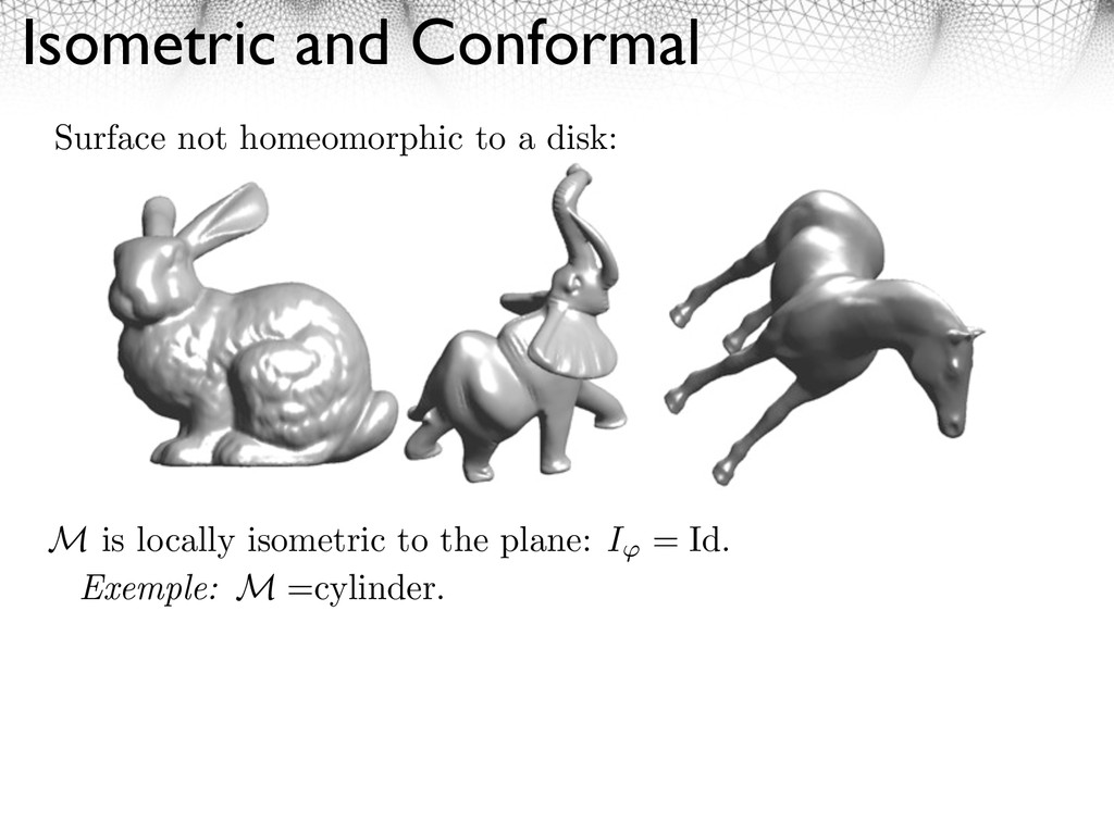 Isometric and Conformal M is locally isometric ...