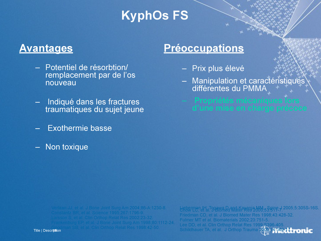 Title | Description 19 KyphOs FS Avantages – Po...