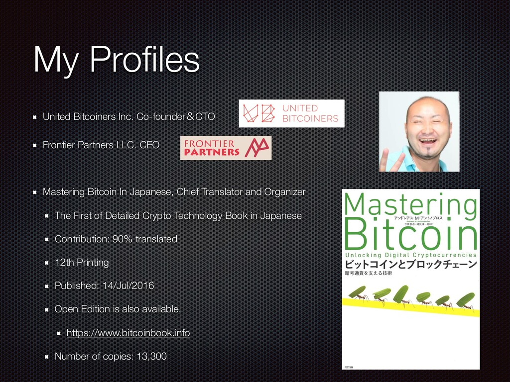 My Profiles United Bitcoiners Inc. Co-founderˍCT...