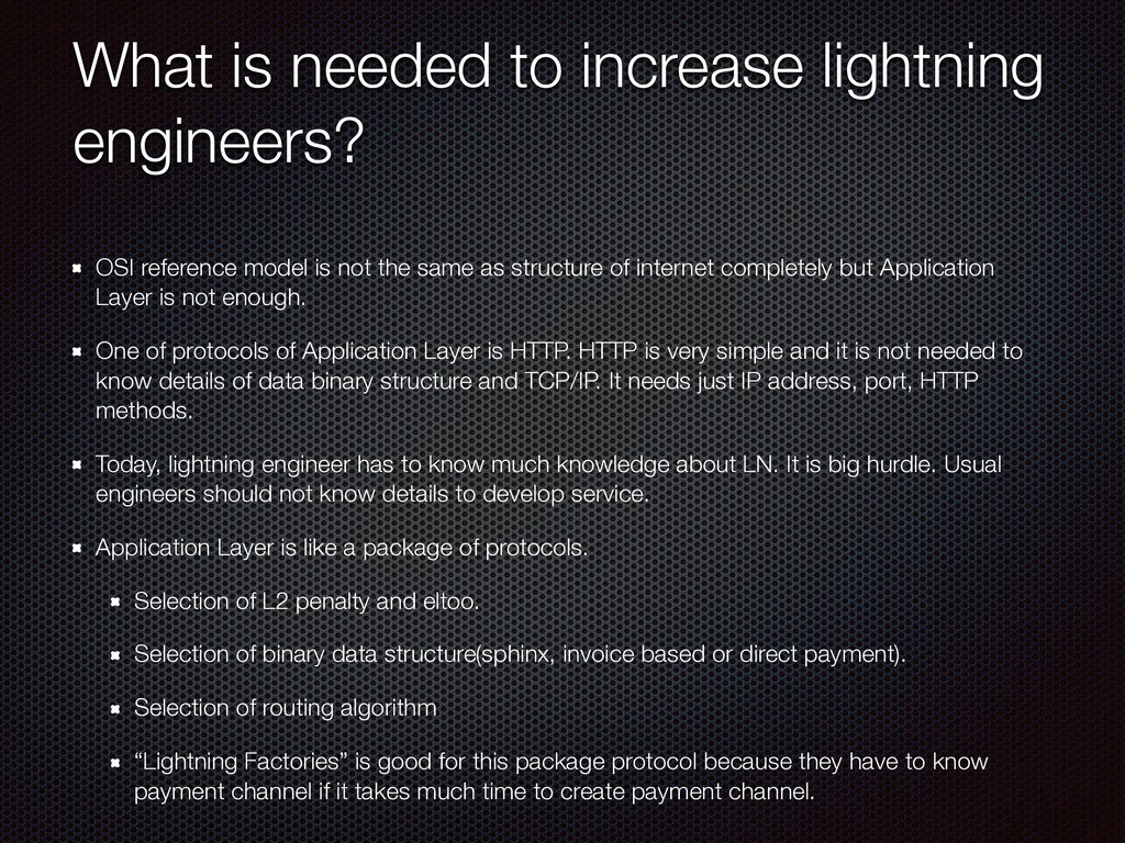 What is needed to increase lightning engineers?...