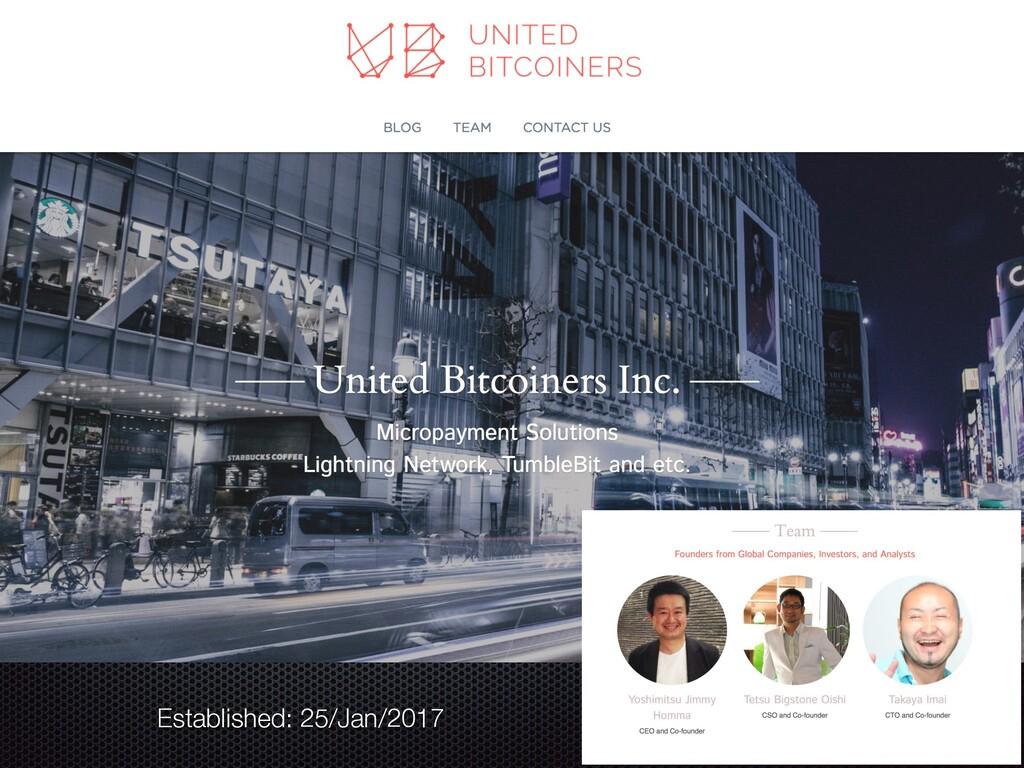 Established: 25/Jan/2017