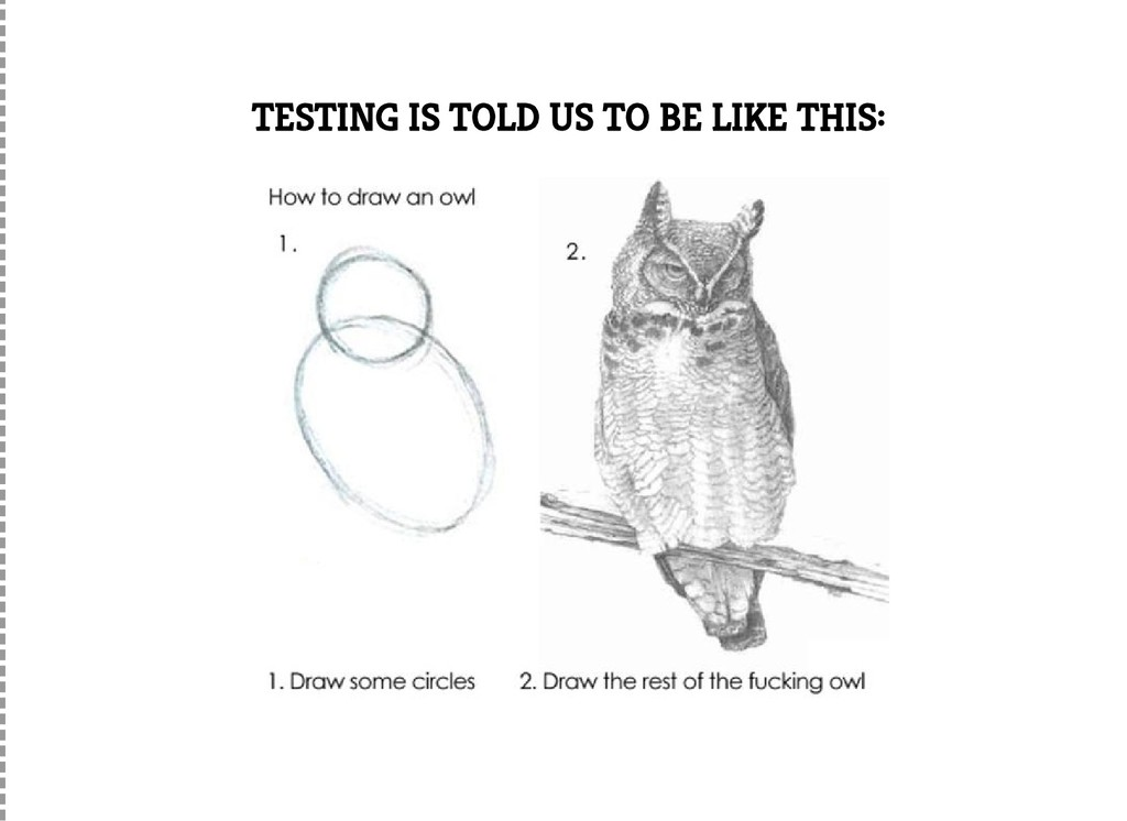 TESTING IS TOLD US TO BE LIKE THIS: