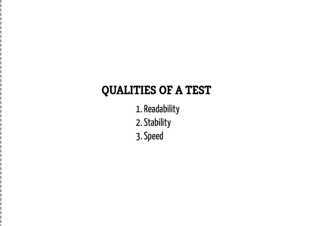 QUALITIES OF A TEST 1. Readability 2. Stability...