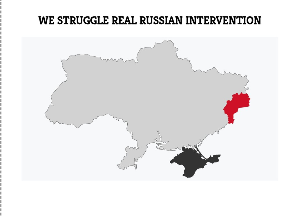 WE STRUGGLE REAL RUSSIAN INTERVENTION