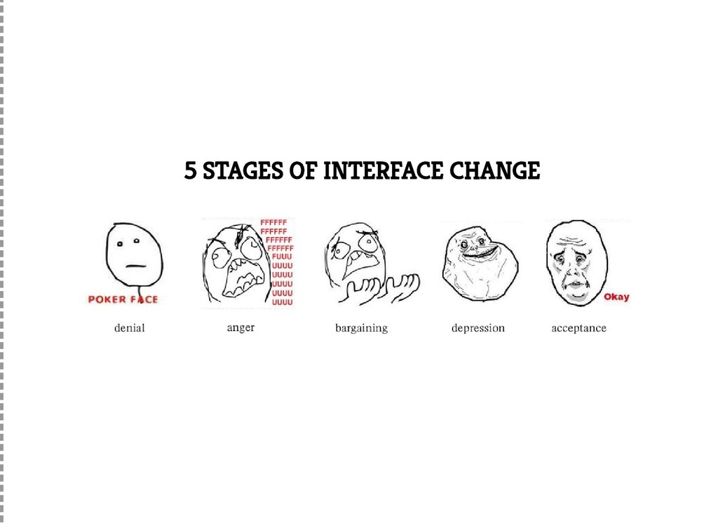 5 STAGES OF INTERFACE CHANGE