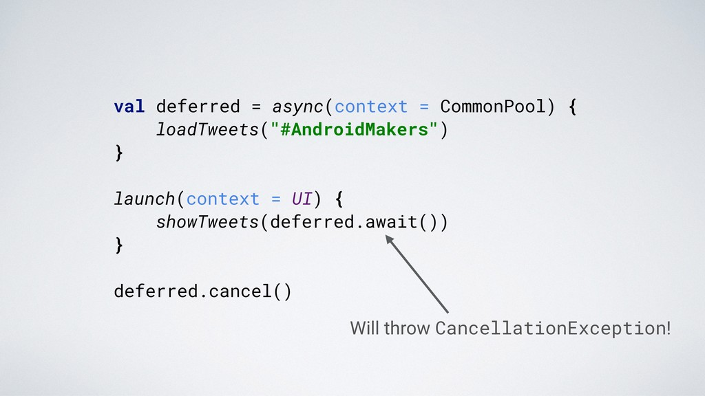 val deferred = async(context = CommonPool) {. l...