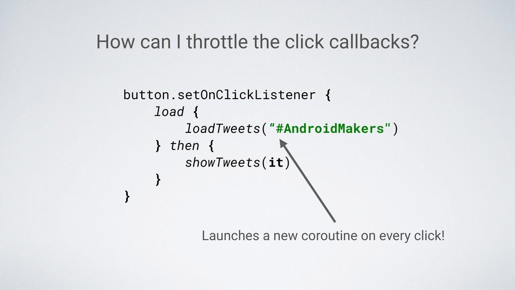 "button.setOnClickListener { load { loadTweets(""..."