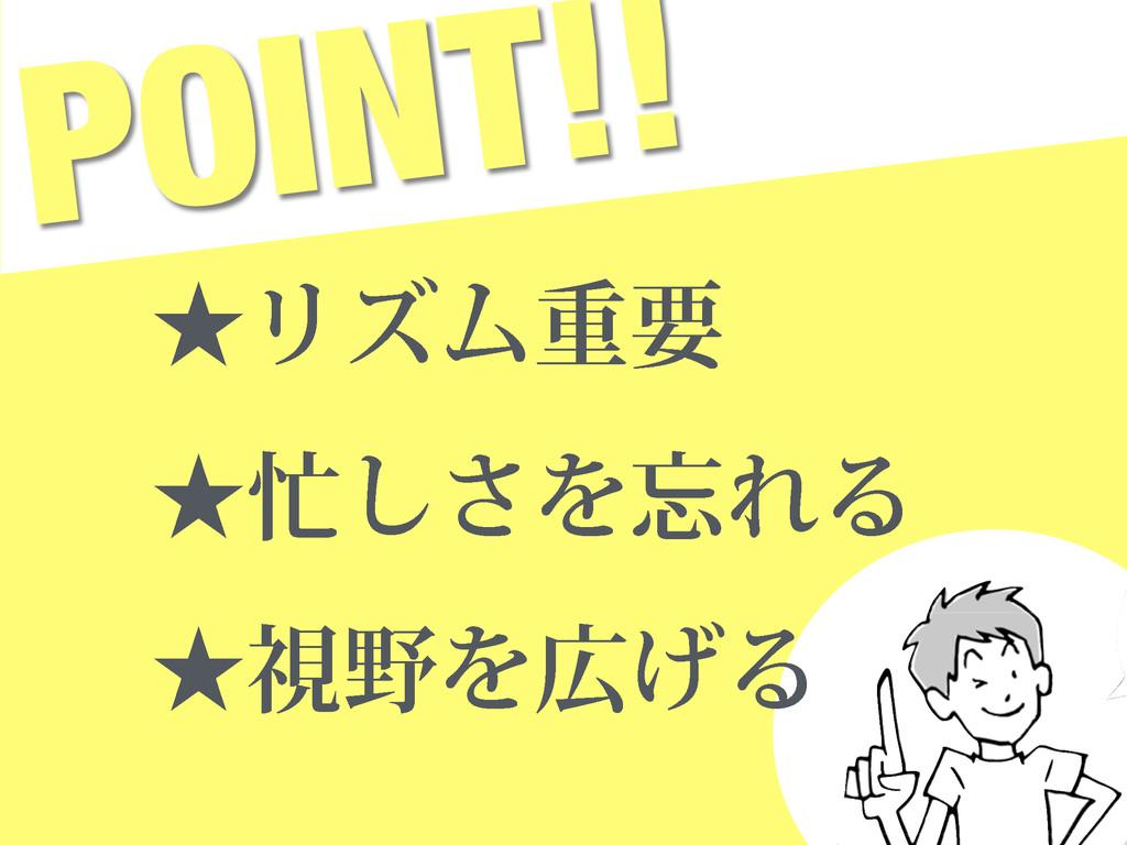 POINT!! ˒ϦζϜॏཁ ˒͠͞ΛΕΔ ˒ࢹΛ͛Δ