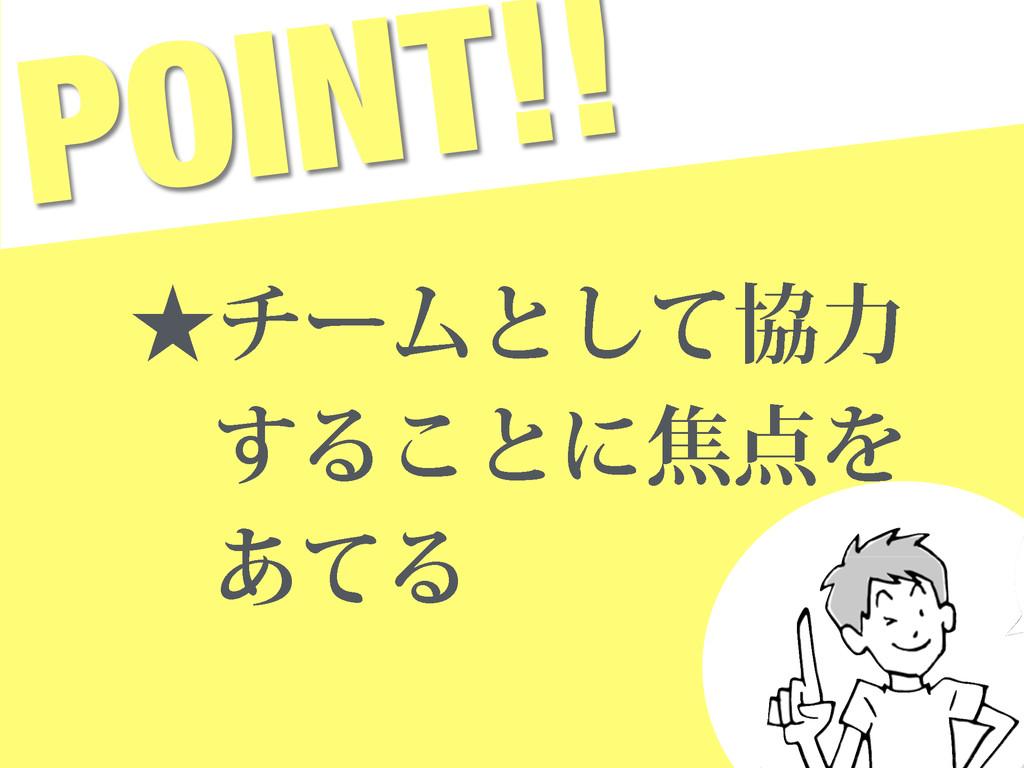 POINT!! ˒νʔϜͱͯ͠ڠྗ ͢Δ͜ͱʹযΛ ͋ͯΔ