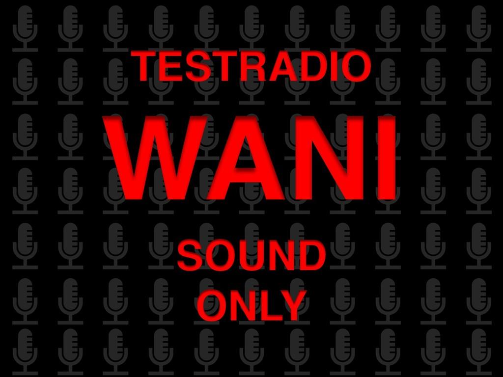 TESTRADIO WANI SOUND ONLY