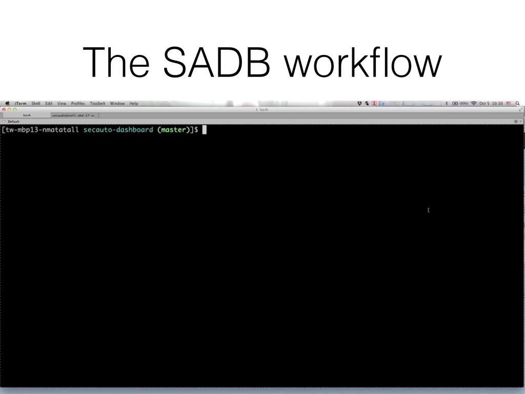 The SADB workflow