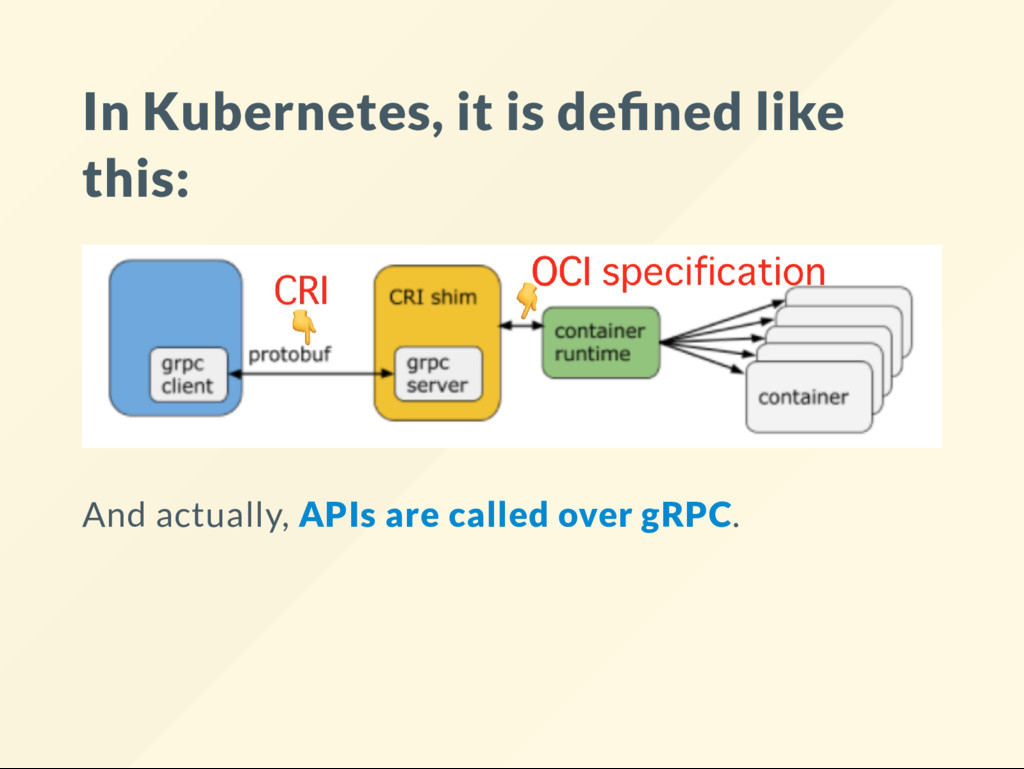 In Kubernetes, it is de ned like this: And actu...