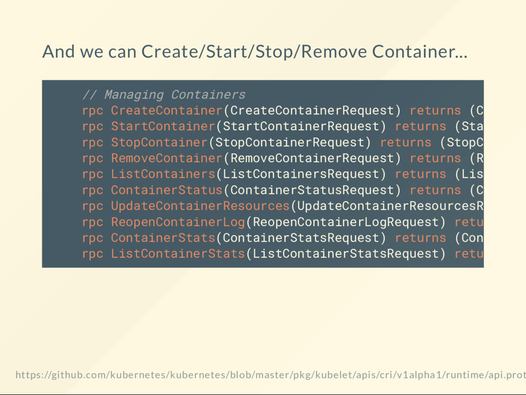 And we can Create/Start/Stop/Remove Container.....