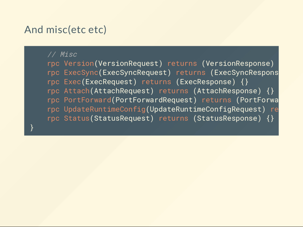 And misc(etc etc) // Misc rpc Version(VersionRe...