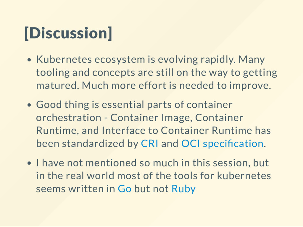 [Discussion] Kubernetes ecosystem is evolving r...