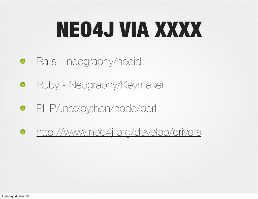 NEO4J VIA XXXX Rails - neography/neoid Ruby - N...