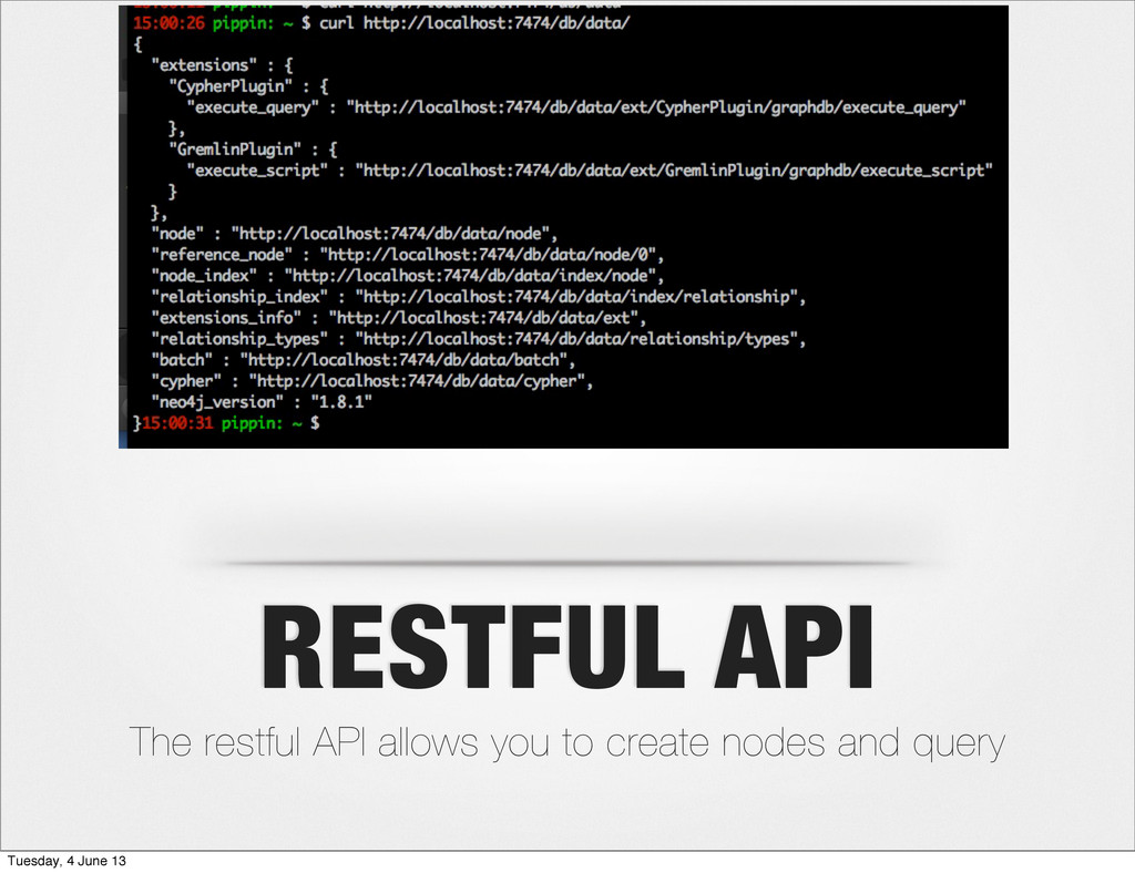 RESTFUL API The restful API allows you to creat...