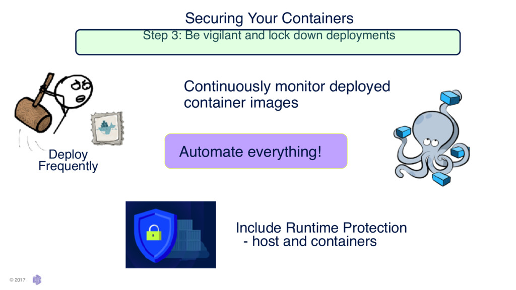 Securing Your Containers Step 3: Be vigilant a...