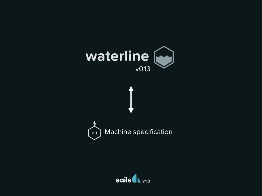 v1.0 Machine specification waterline v0.13