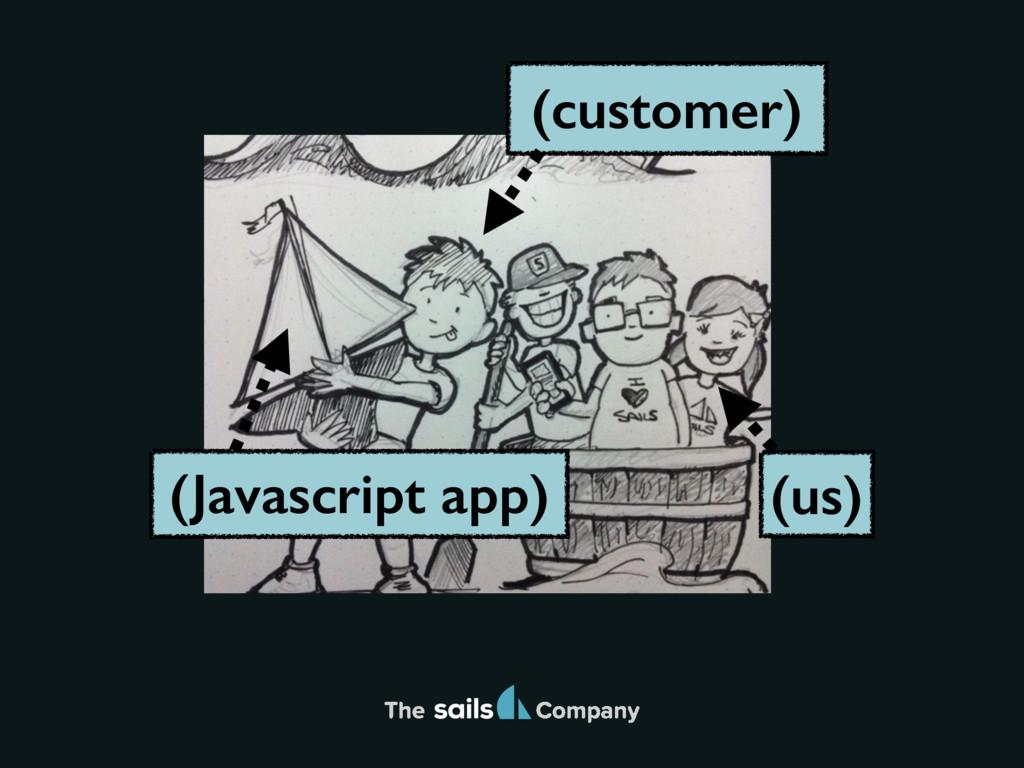 The Company The (us) (customer) (Javascript app)