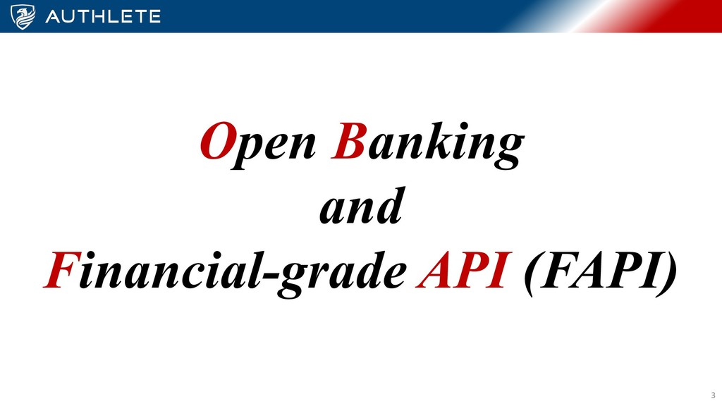Open Banking and Financial-grade API (FAPI) 3