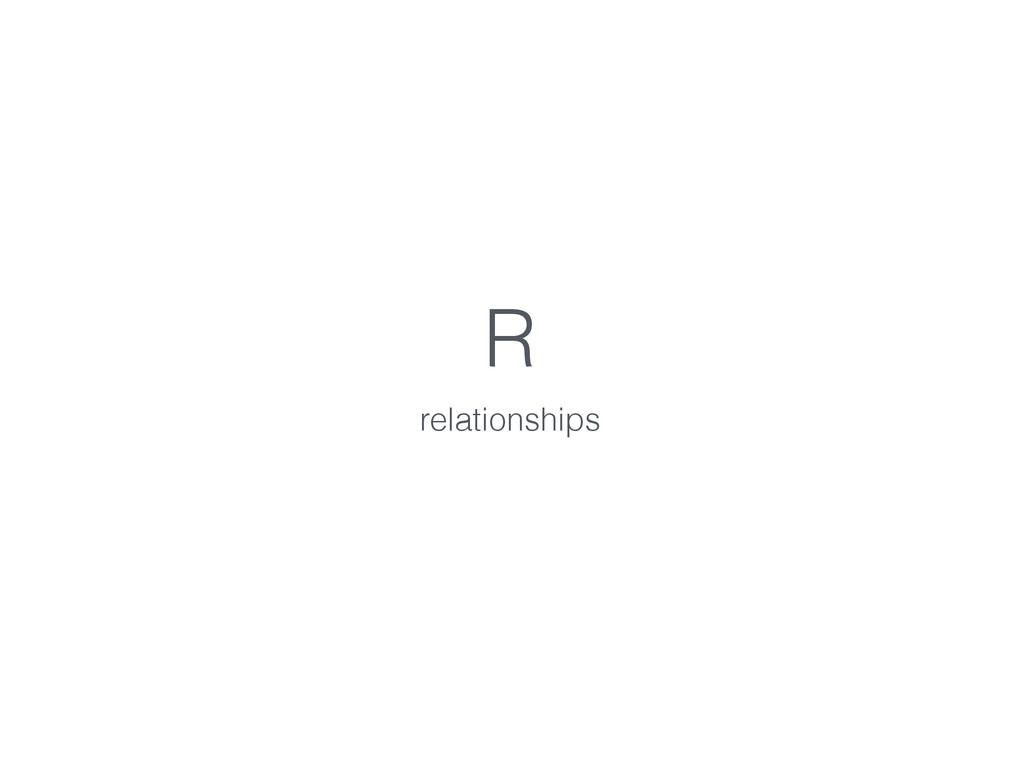 R relationships