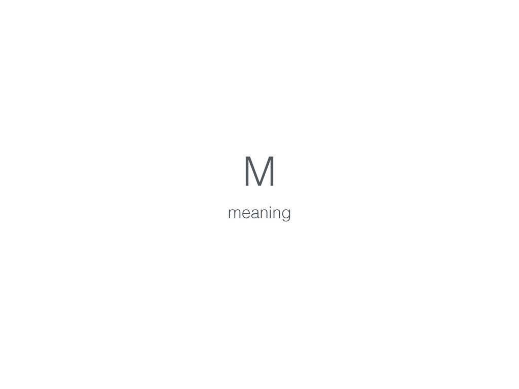 M meaning