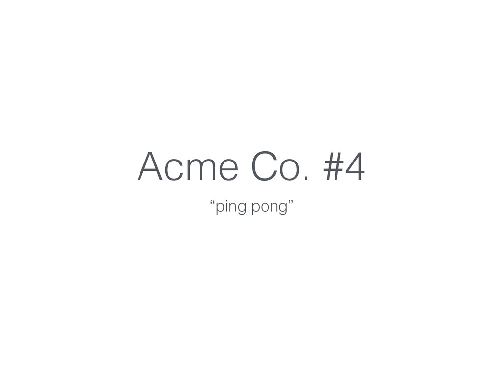 """Acme Co. #4 """"ping pong"""""""