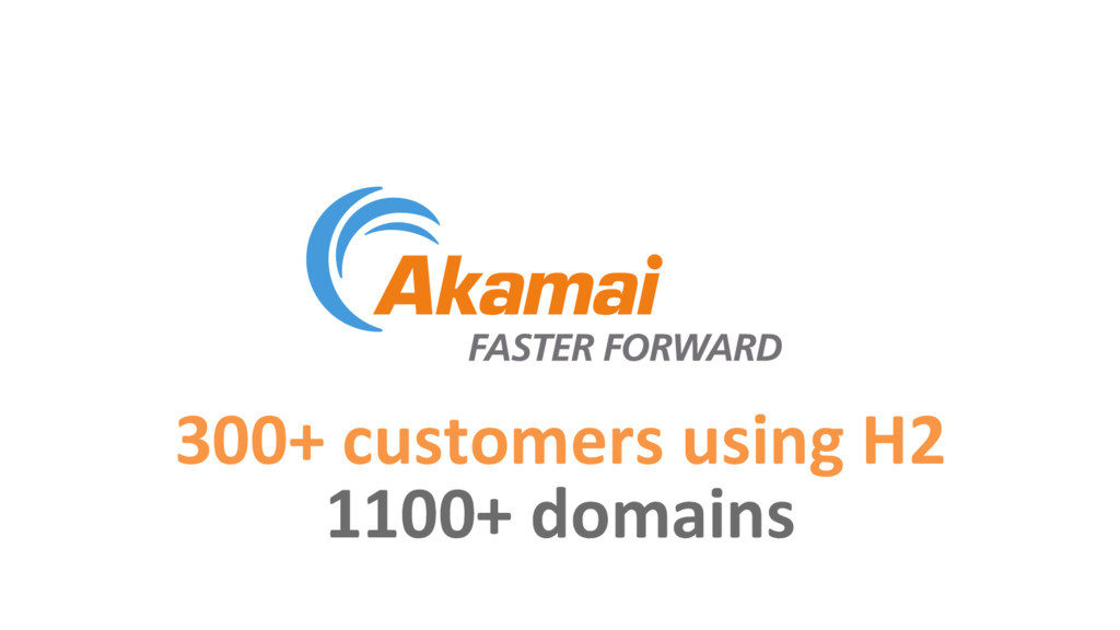 300+ customers using H2 1100+ domains