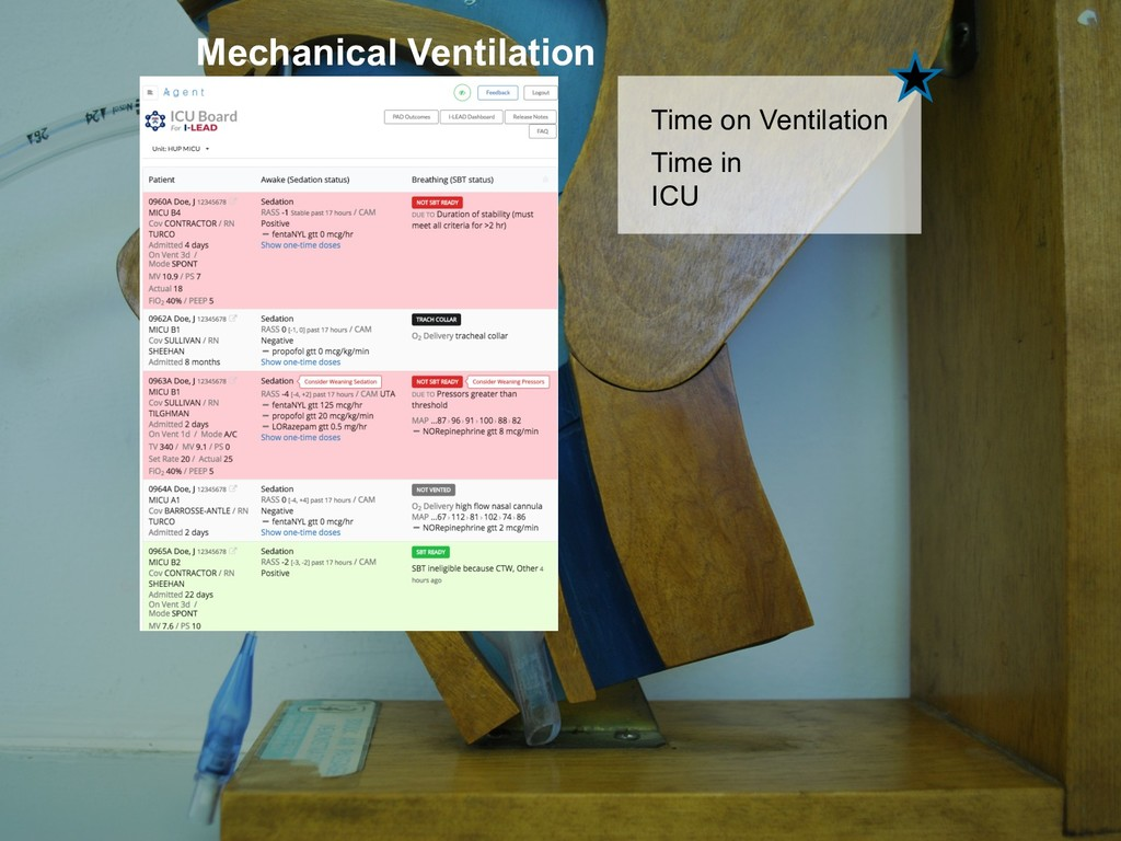 36 Time on Ventilation Mechanical Ventilation T...