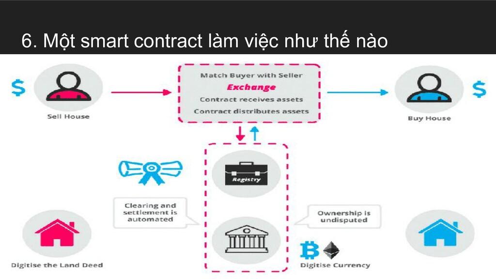6. Một smart contract làm việc như thế nào